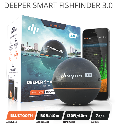 Deeper Smart Fish Finder 3.0 FLDP-09, prijenosni sonar
