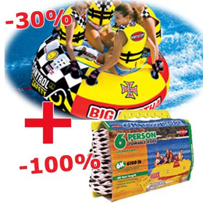 Sportsstuff Big Bertha + konop Sportstuff 6K
